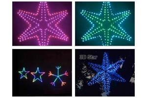 Animated Stars and Snowflakes
